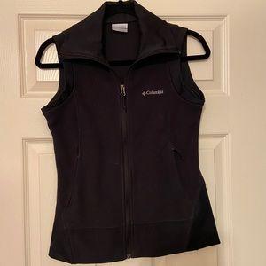 Columbia fleece vest, Black XS